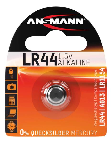 Bilde av Alkaline batteri LR44, 1-pk